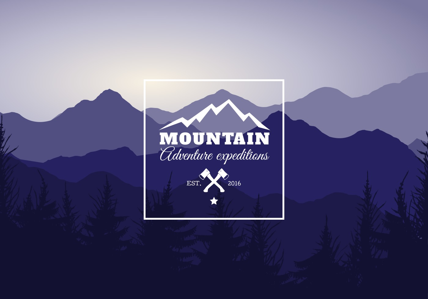 Mountain Landscape Vector Illustration  Download Free