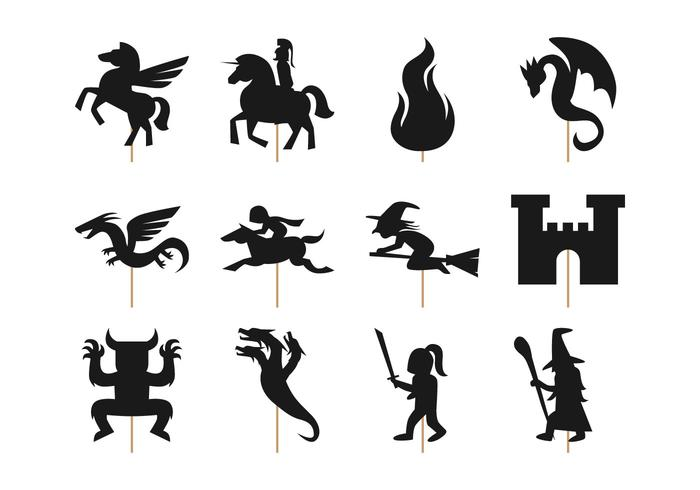 Free Shadow Puppet Templates. Diy Halloween Shadow Puppets
