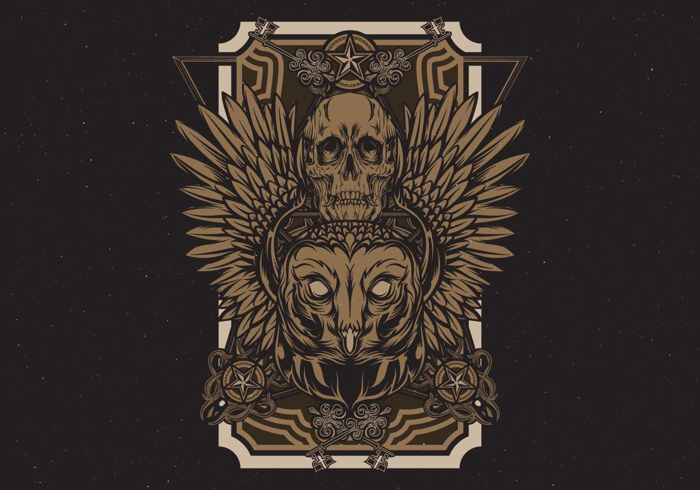 vintage owl poster download