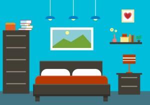 vector bedroom interior illustration flat clipart vectors graphics edit