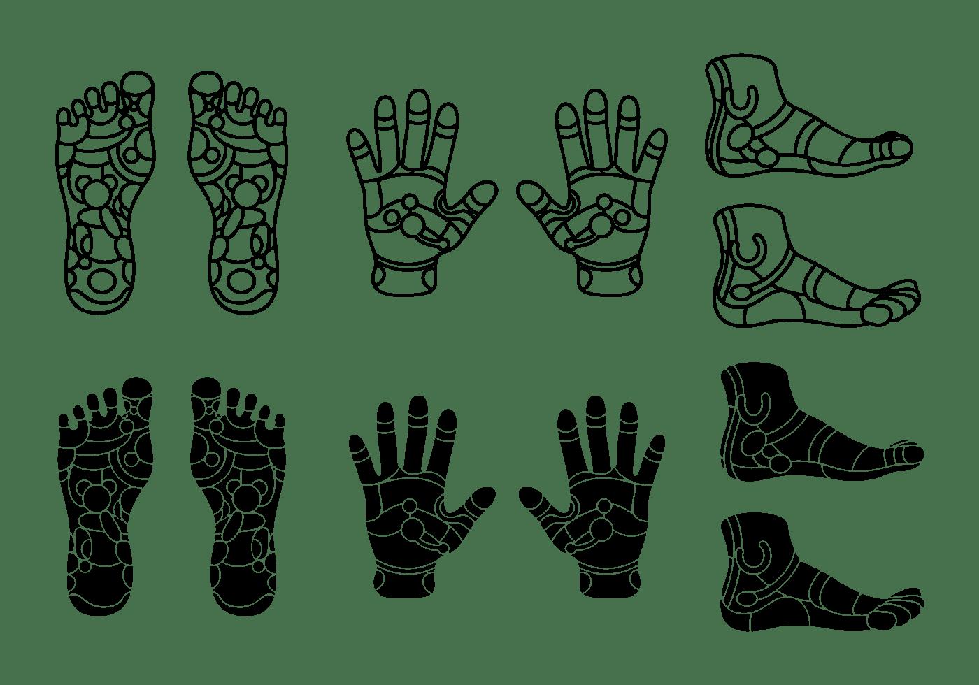 Set Of Reflexology Icon