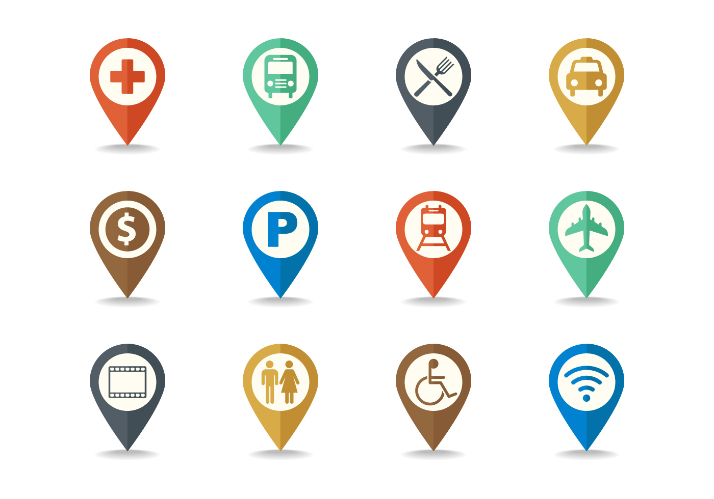 Free Map Legend And Sign Icon Set Vector