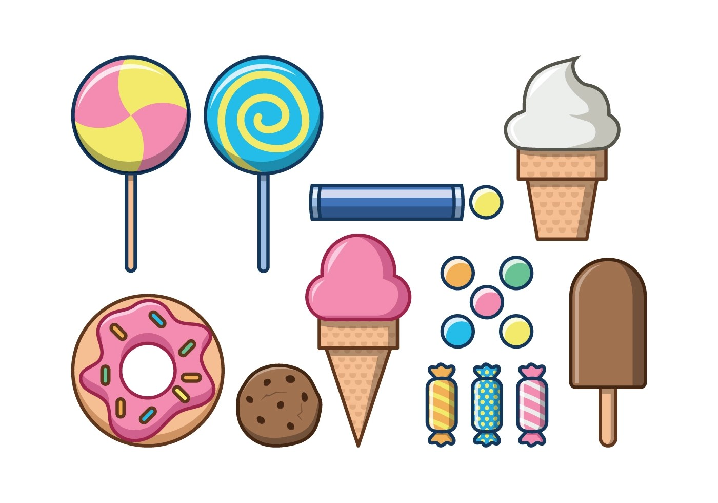 Free Sweet Foods Vector Icon Download Free Vector Art