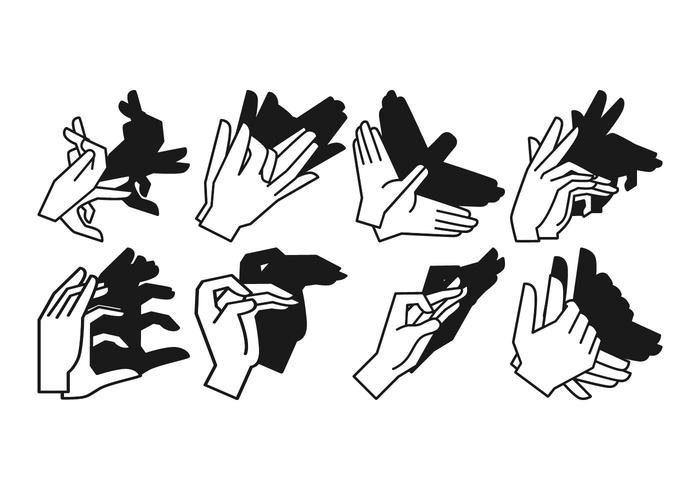 Free Shadow Hand Puppet Vector