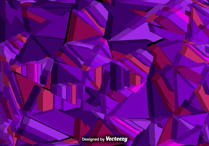 3d Geometric Shapes Wallpaper White Vector Abstract Background With 3d Purple Polygons