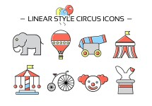 Free Circus Icons - Vector Art Stock