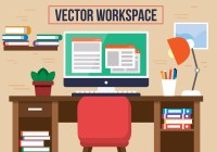 Free Red Chair Office Vector Desk - Download Free Vector ...