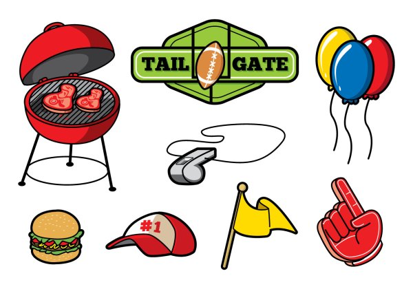 free tailgate party vector