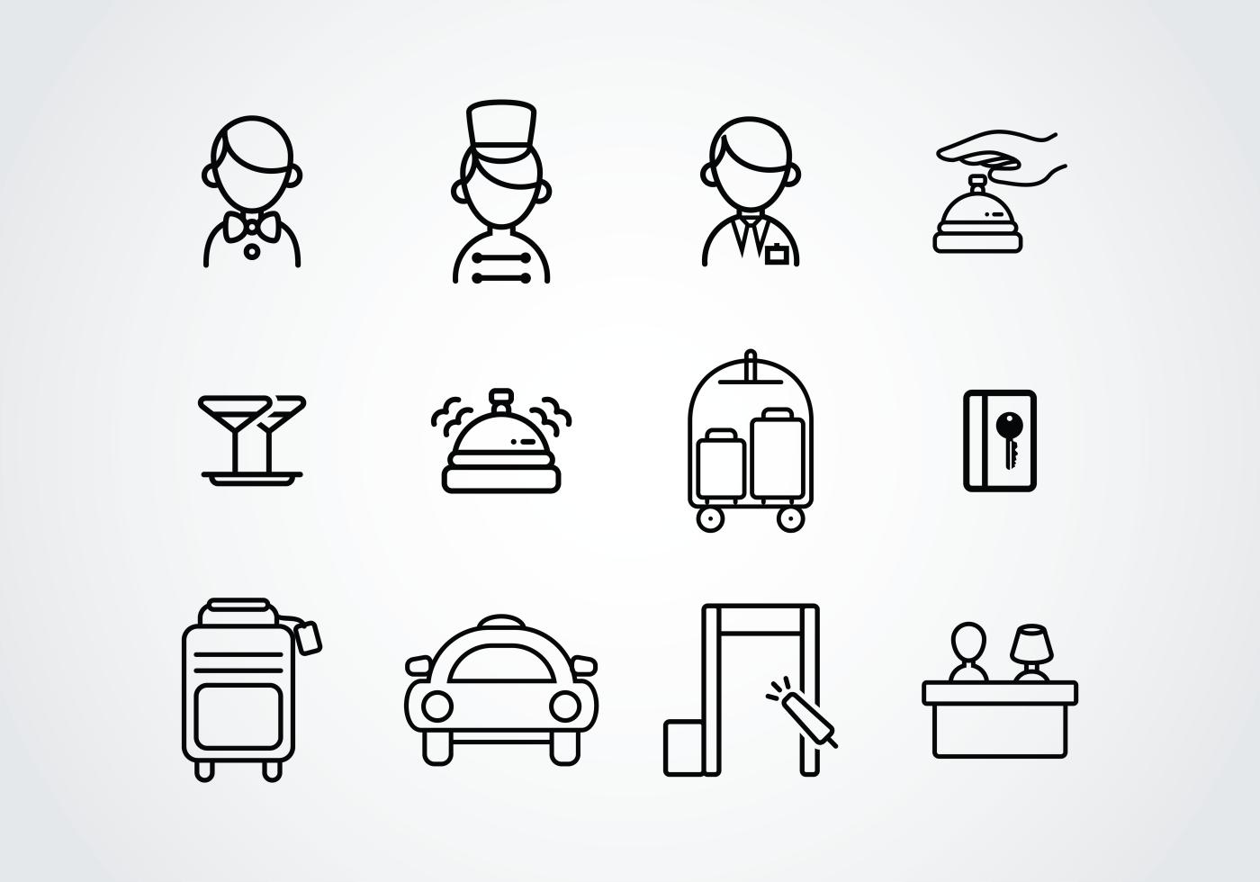 Concierge Pictogram Icons Download Free Vector Art