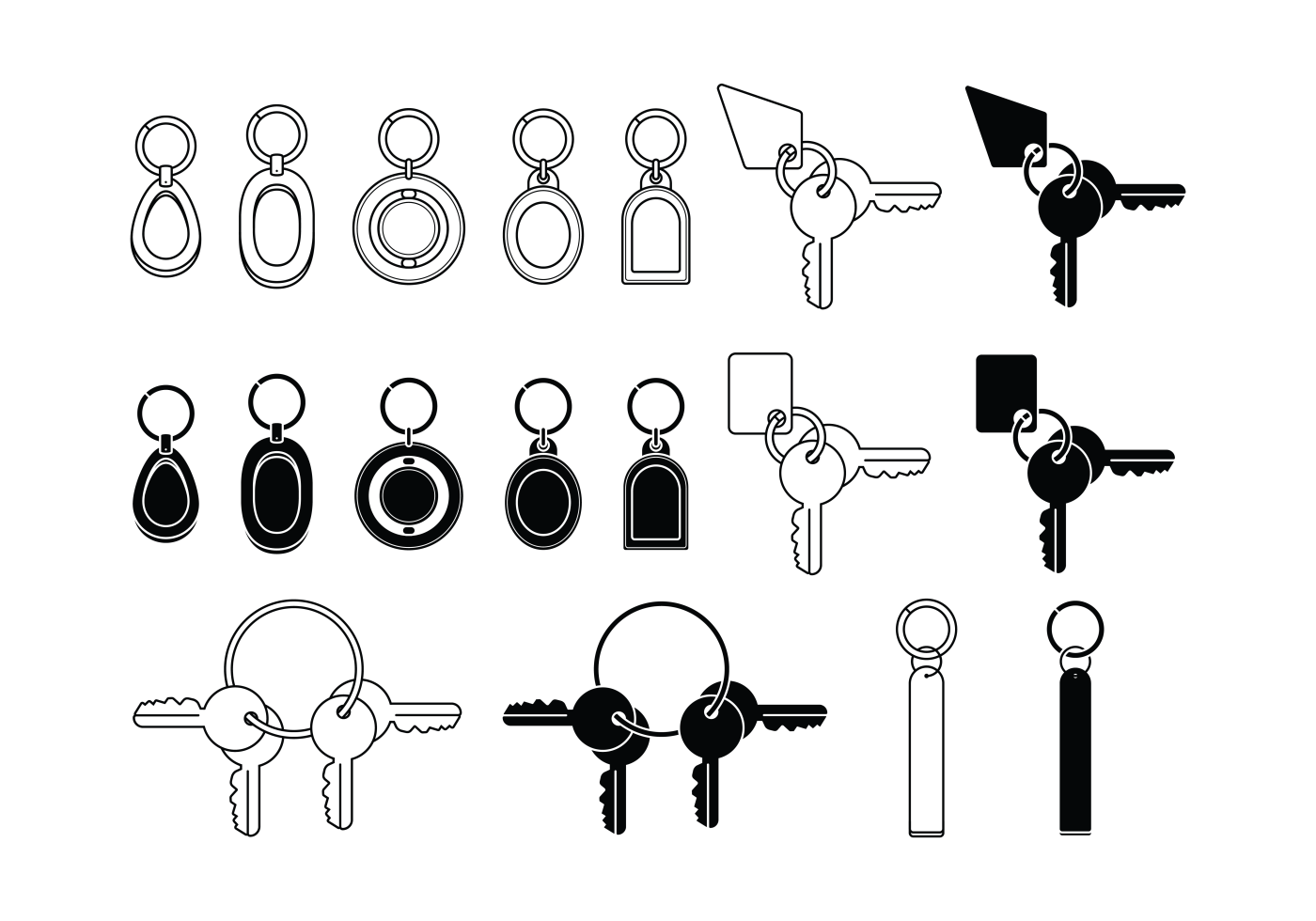 Key Chains Icons