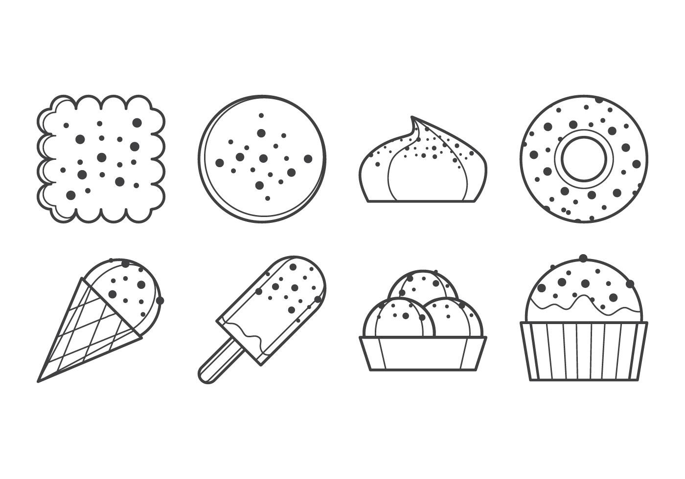 Free Sweet Dessert Icon Vector