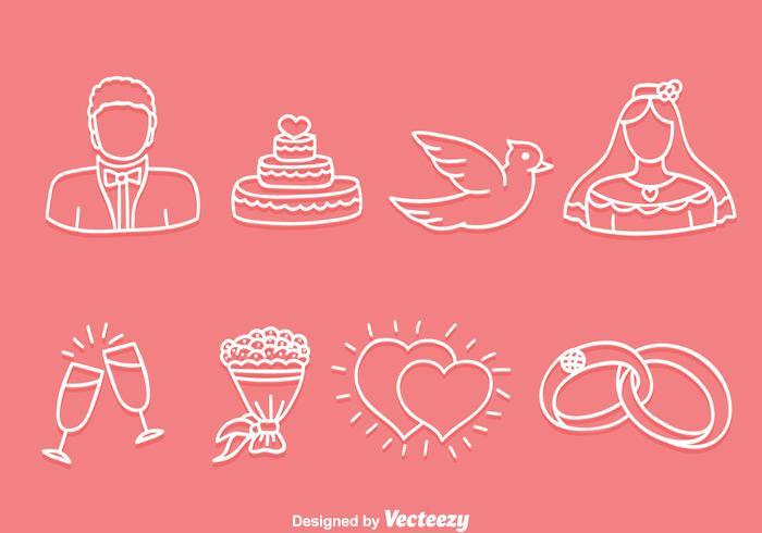 Hand gezeichnet Hochzeit Icons Vektor  Kostenlose VektorKunst ArchivGrafiken  Bilder