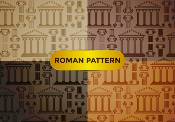 Roman Pillar Pattern Vector - Free Art