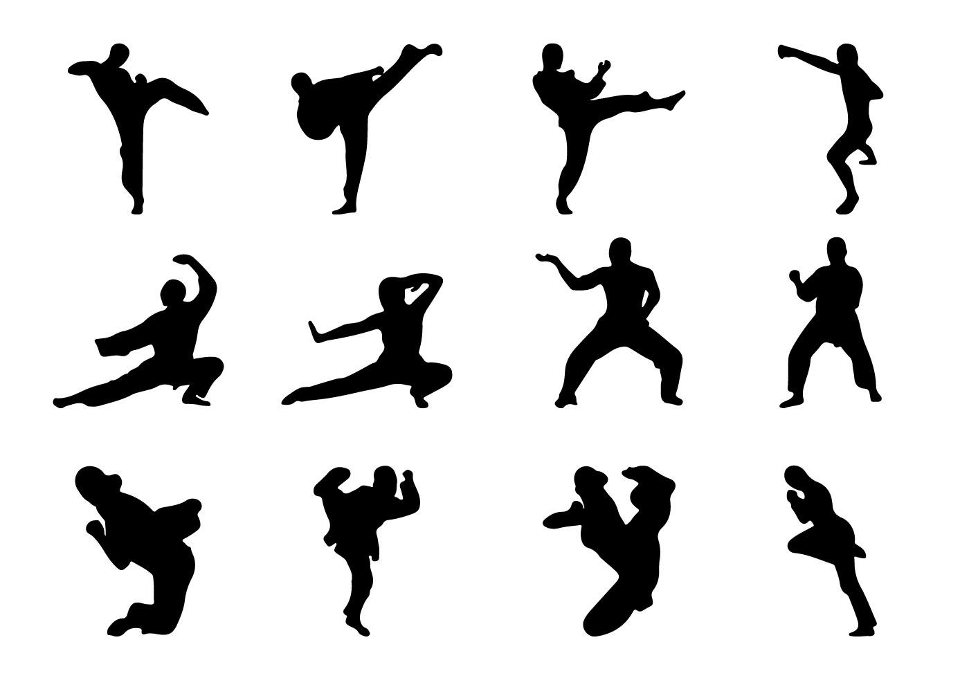 Martial Arts Silhouette Vector