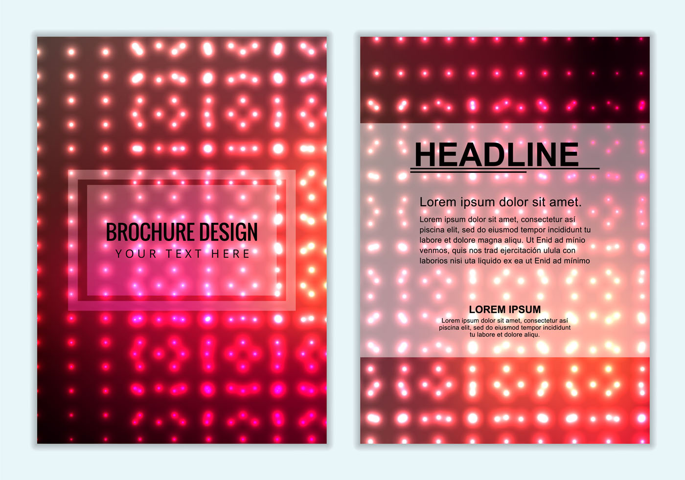 Free Vector Colorful Brochure Background  Download Free