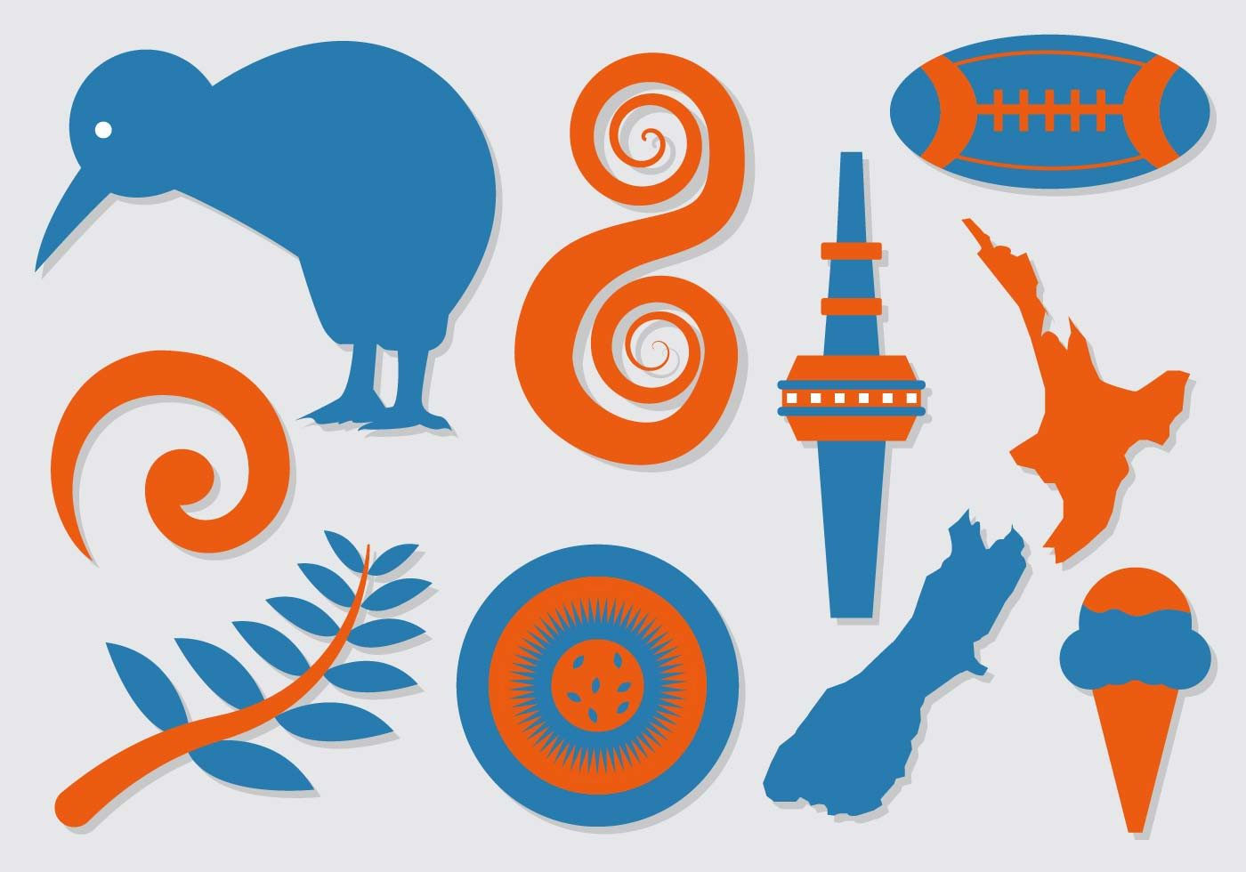Free New Zealand Icons Vector