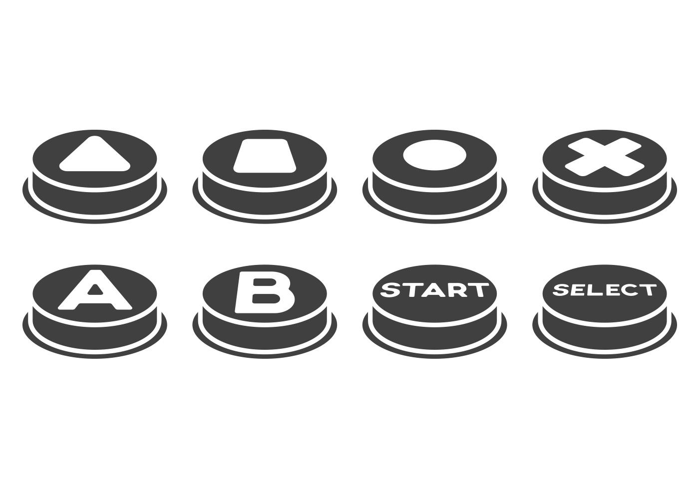 Free Arcade Button Vectors