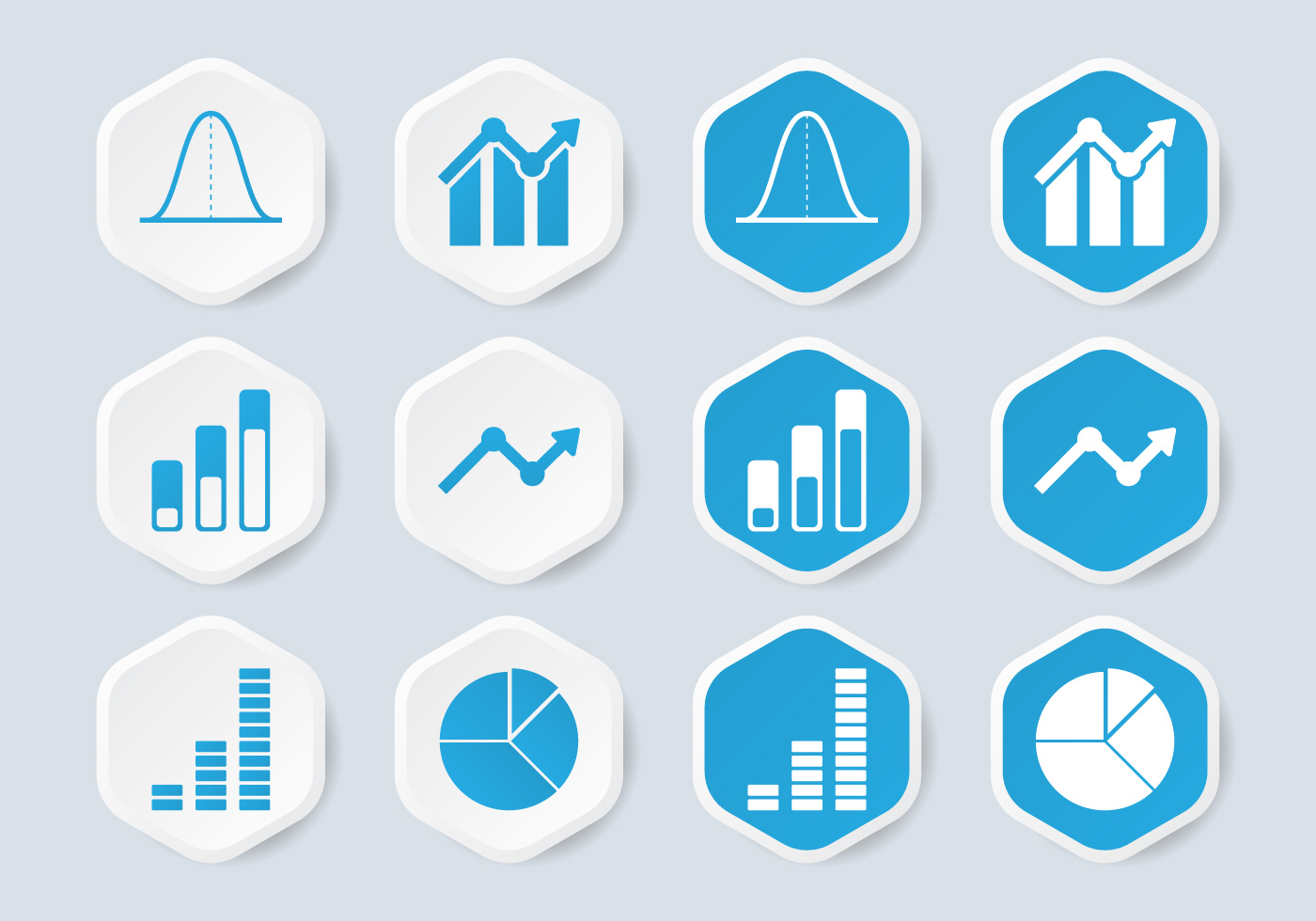 statistical analysis graphs and diagrams diy guitar wiring bell curve infographic icon - download free vector art, stock graphics & images