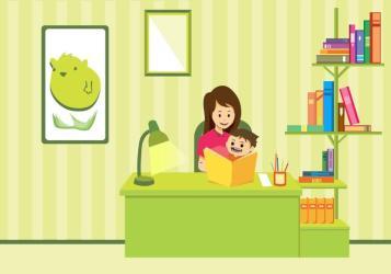 Mom And Child Study Vector Art Download Free Vectors Clipart Graphics & Vector Art