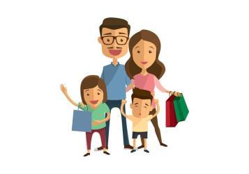 Family Shopping Vector Download Free Vectors Clipart Graphics & Vector Art