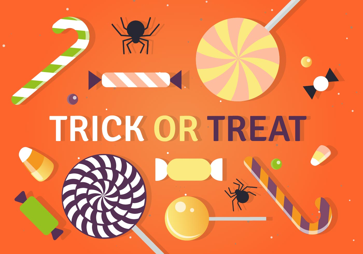Halloween Trick Or Treat Candy Vector Illustration