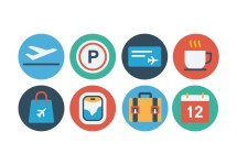 Free Airport Flat Icon Set - Vector Art