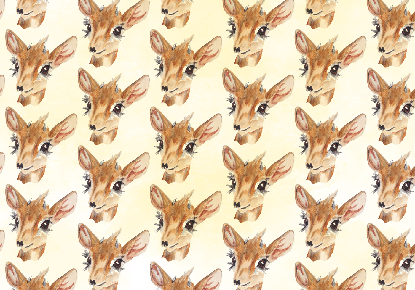 Cute Animals Wallpaper Pack Vector Deer Watercolor Pattern Download Free Vector Art