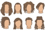 dreadlocks free vector art - 122