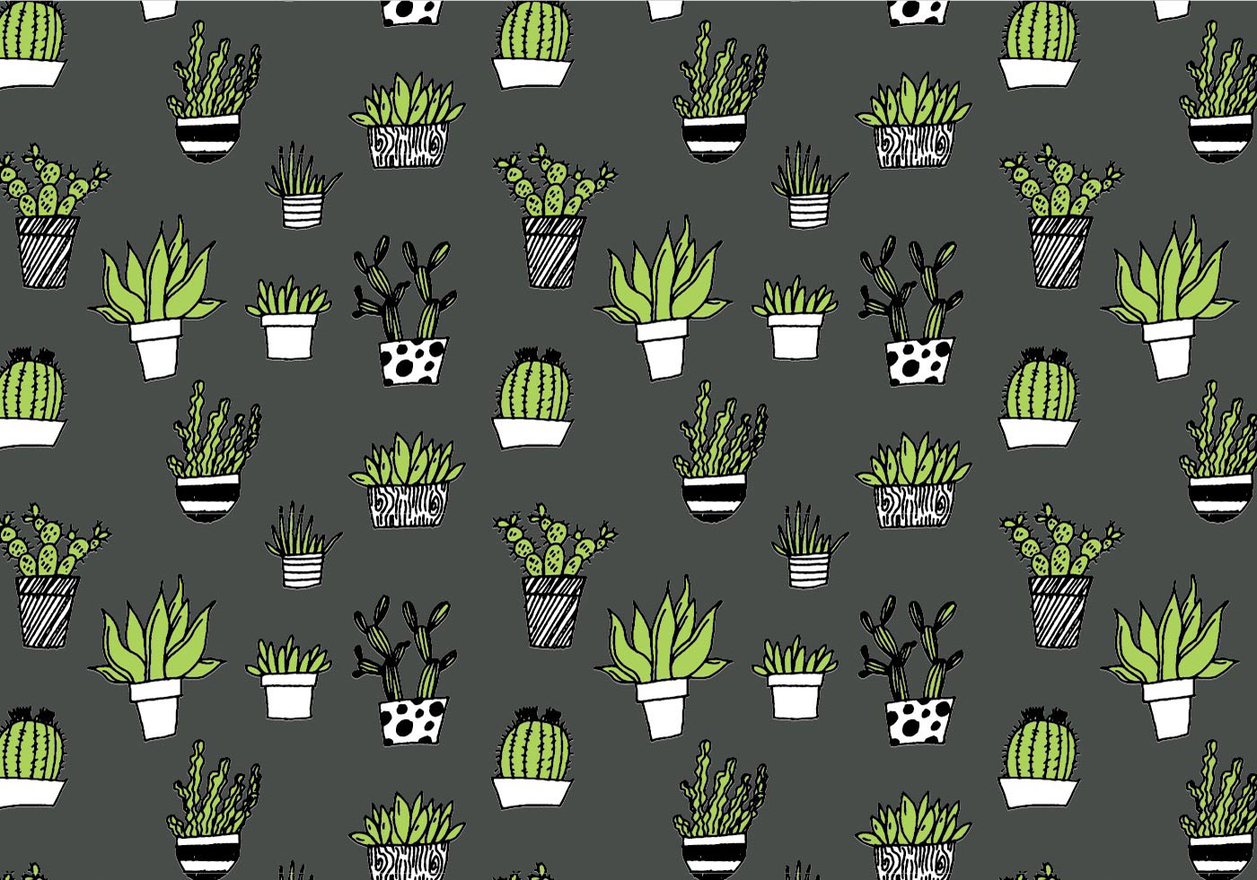 Succulent Repeating Pattern Download Free Vector Art
