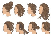 dreads icons vector