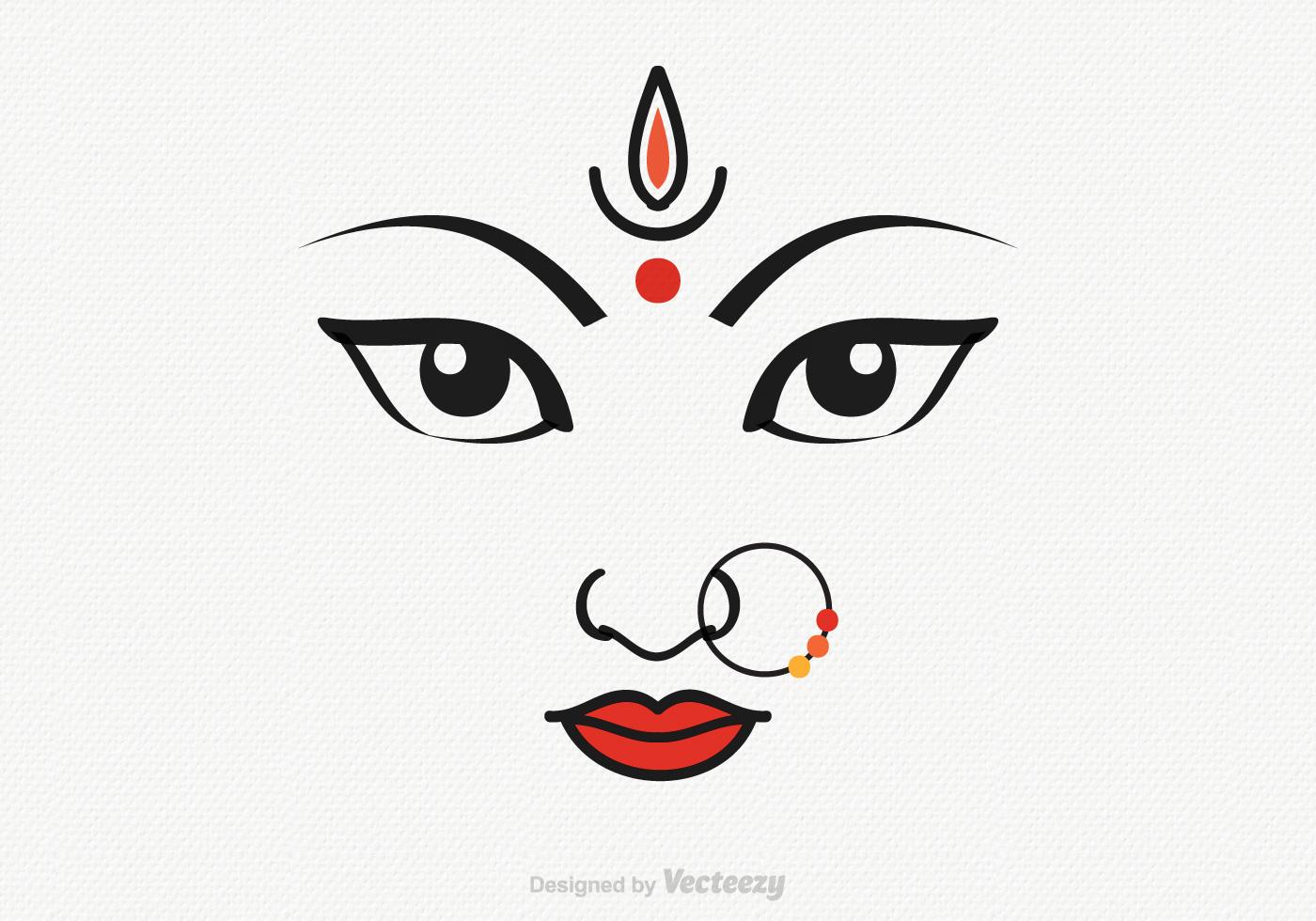 Vector Goddess Durga Illustration