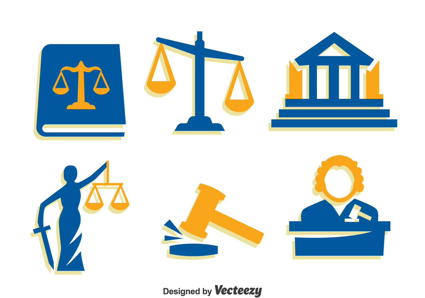 Justice Element Icons Vector