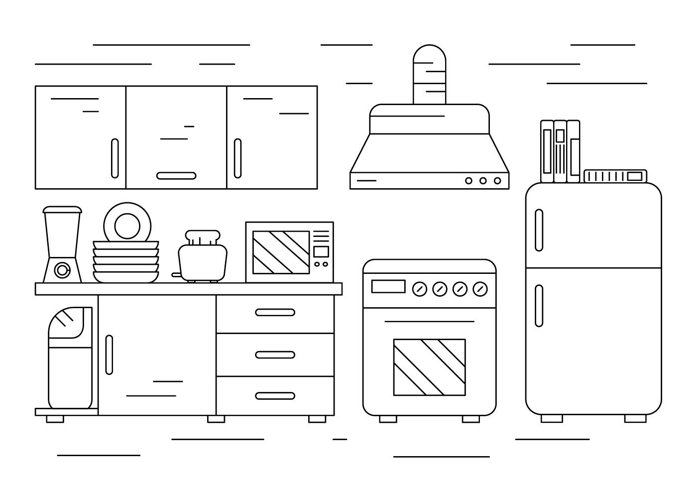 Free Kitchen Illustration