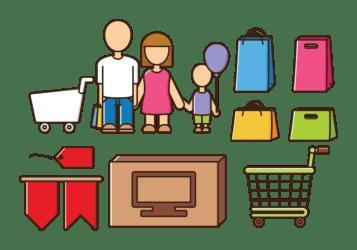 vectors shopping vector bag cloth colorful clipart icon