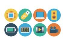 Free Flat Technology Icons - Vector Art