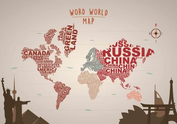 Word Map Free Vector Art - 15792