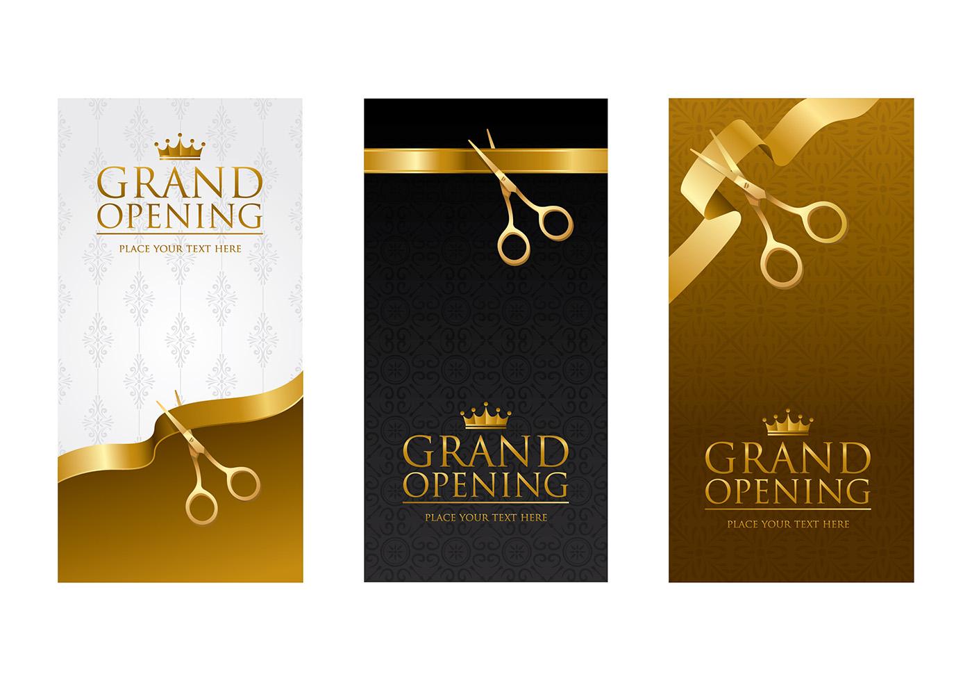 grand opening invitation free vector