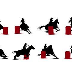 free barrel racing silhouettes vector [ 1400 x 980 Pixel ]