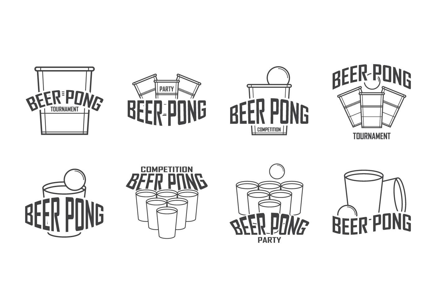 Beer Pong Logo Vector
