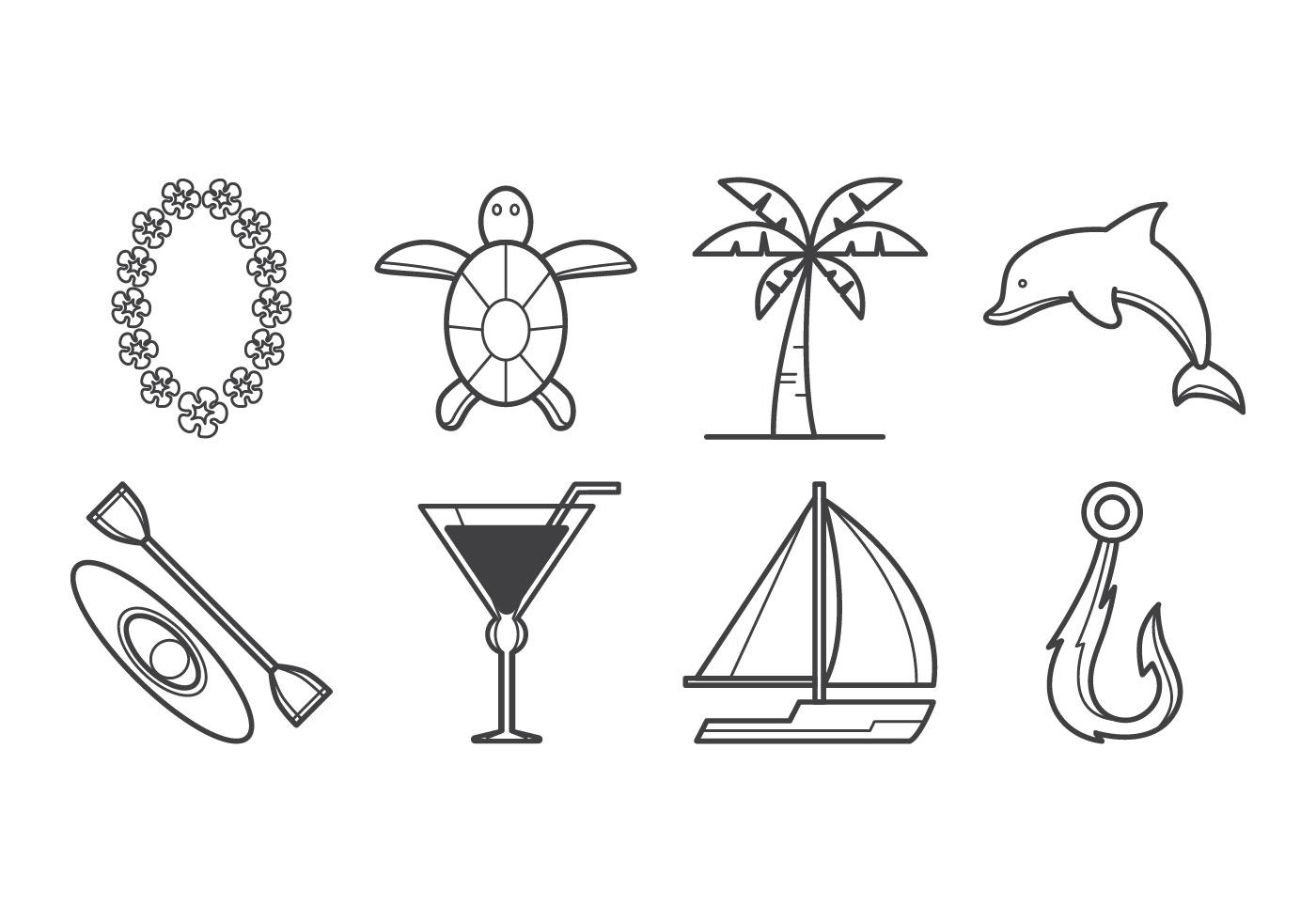 Gratis Tropisk Island Ikon Vector