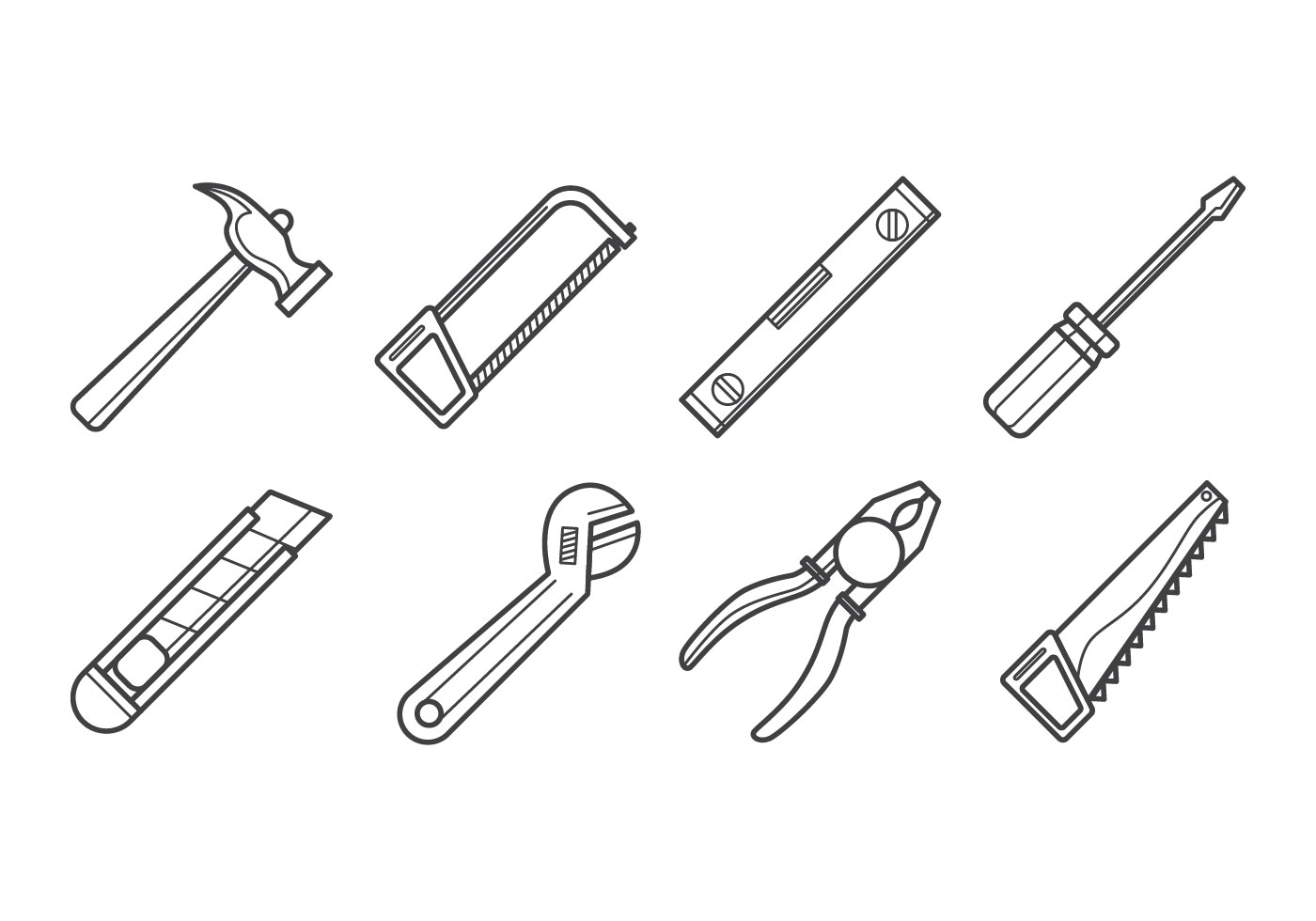 Carpenter Tools Icon Vector