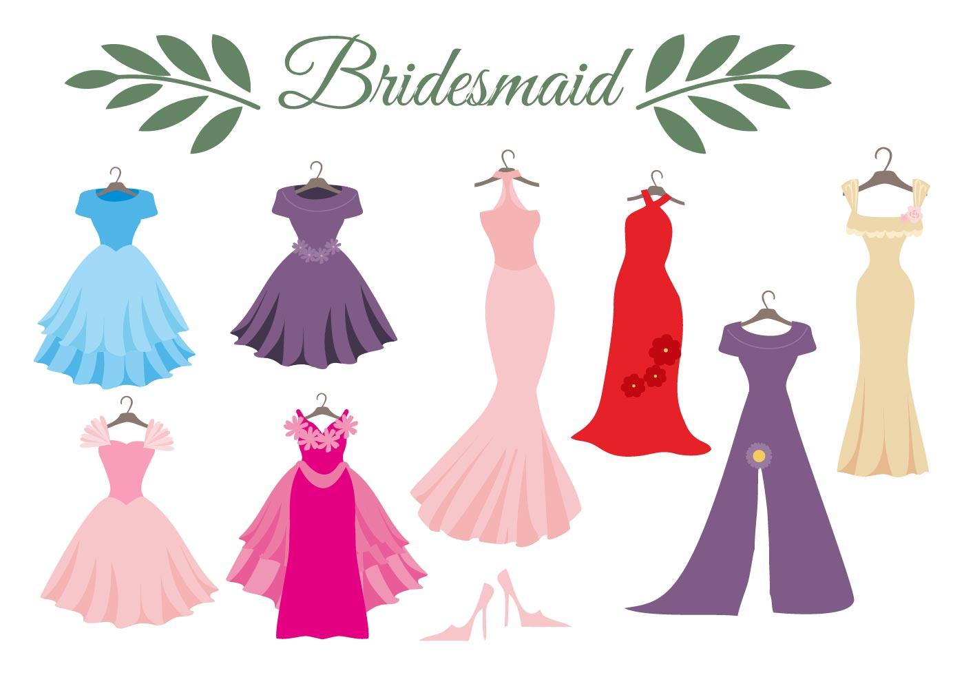 Free Wedding Dress Bridesmaid Vector