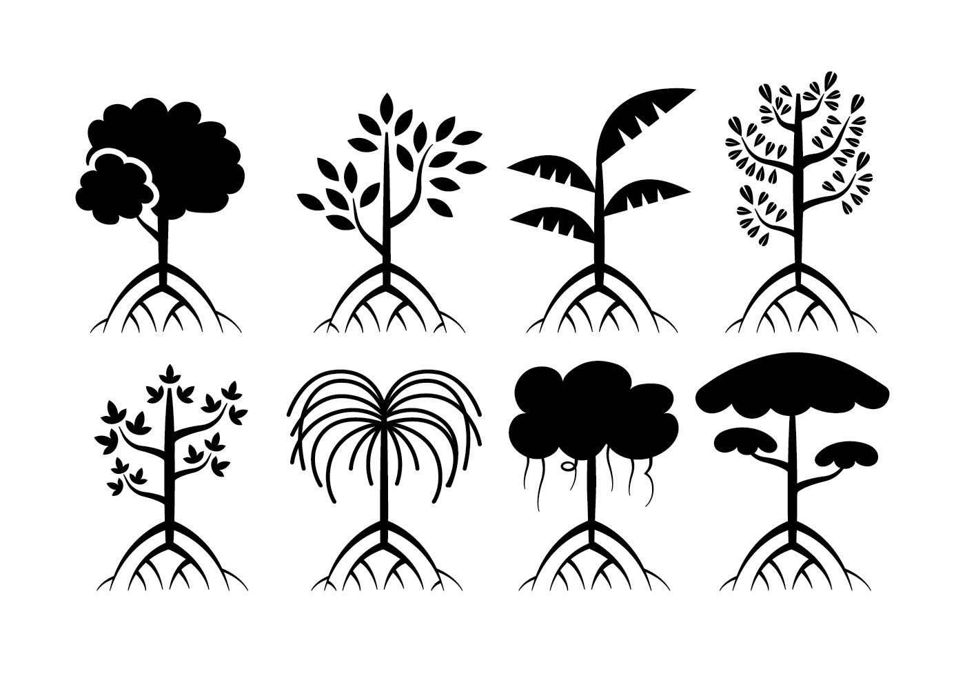 Mangrove trees vector  Download Free Vector Art Stock Graphics  Images