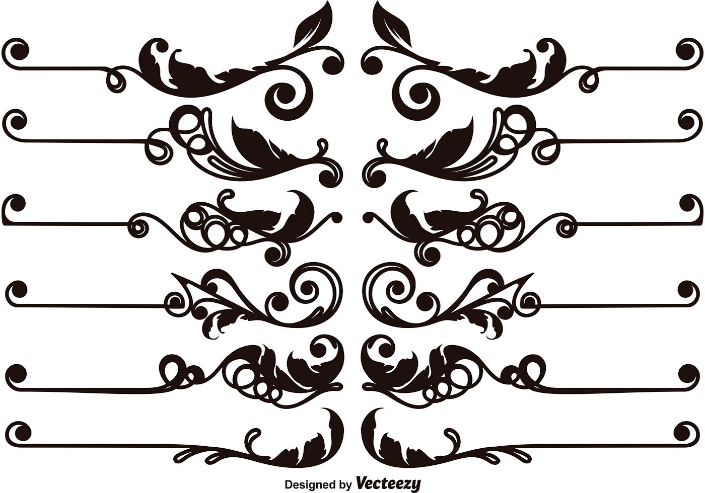 Abstract Curve Background Decorative Corner Vector