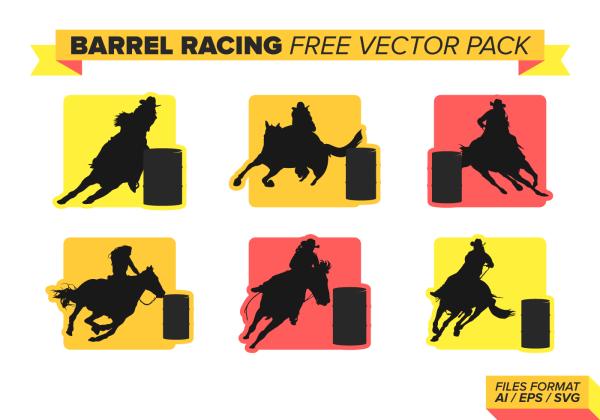 Barrel Racing Free Vector Pack Vol. 2