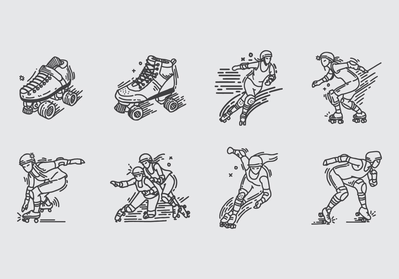 Roller Skate Clipart