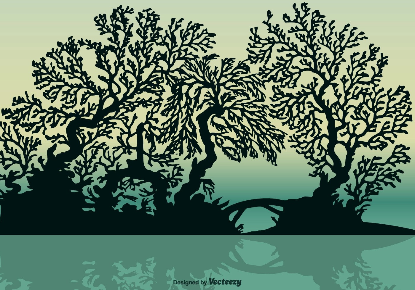 Free Vector Mangrove Silhouette  Download Free Vector Art Stock Graphics  Images