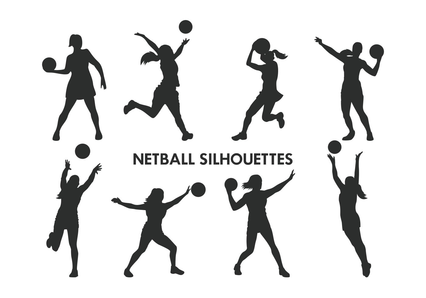 Netball Player Free Vector Art