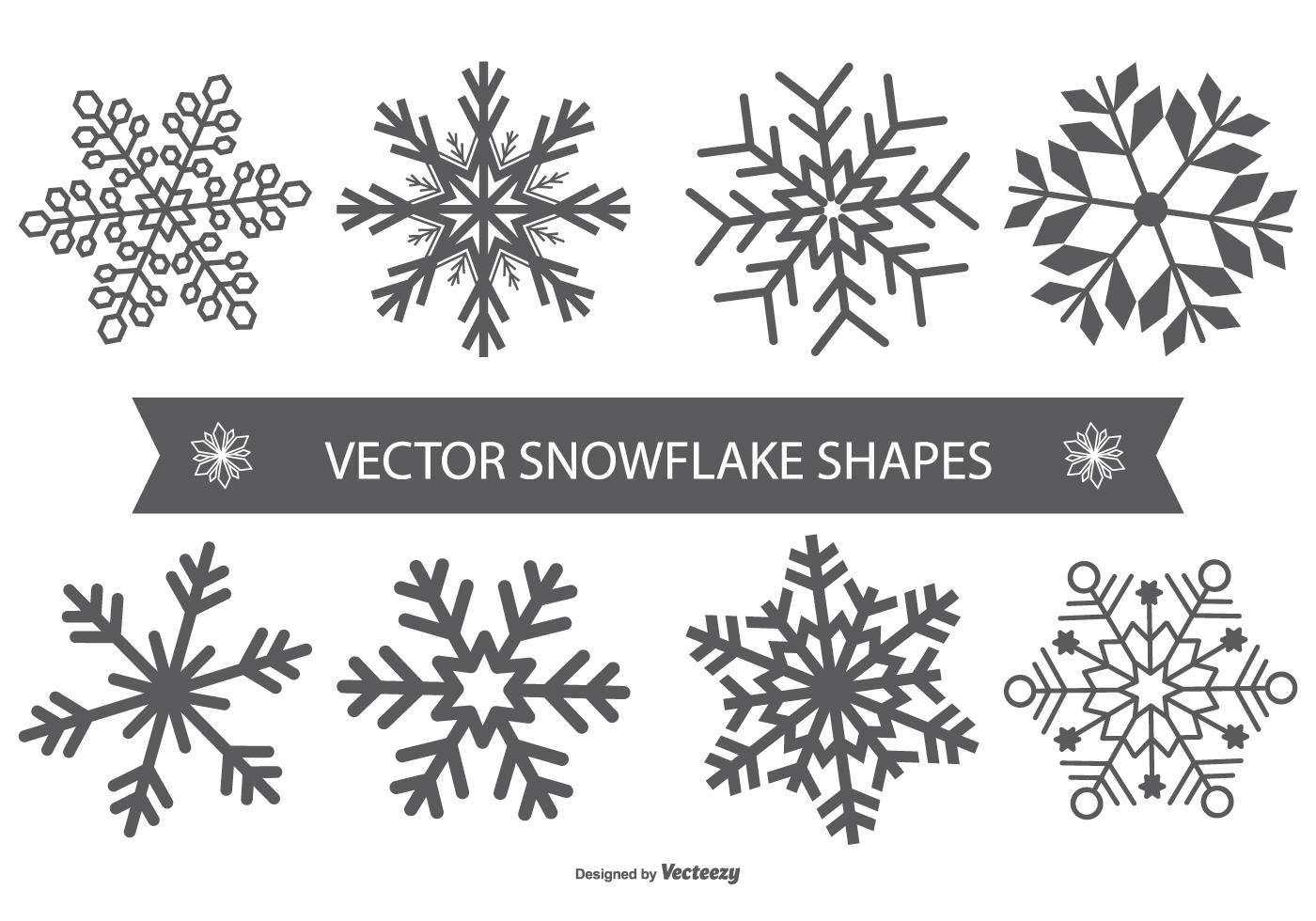 Snowflake Vector Shapes