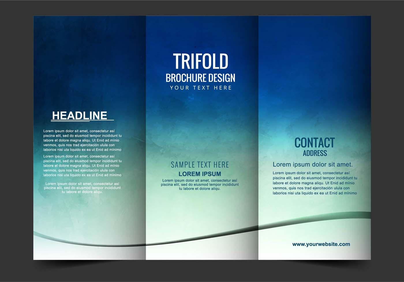 Vector Tri Fold Brochure Download Free Vector Art Stock Graphics Amp Images